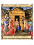 The Adoration of the Magi, Detail from Panel One of the Silver Treasury of Santissima Annunziata Giclee Print by  Fra Angelico