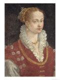 Portrait of Bianca Cappello, circa 1580 Giclee Print by Alessandro Allori