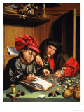 The Money Lenders Giclee Print by Quentin Metsys