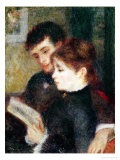Couple Reading Giclee Print by Pierre-Auguste Renoir