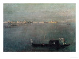 The Gondola on the Lagoon Giclee Print by Francesco Guardi