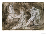"Study for ""Saul and the Witch of Endor"" Giclee Print by Henry Fuseli"