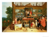 Interior of a Picture Gallery Giclee Print by Frans Francken the Younger