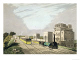 View of the Manchester and Liverpool Railway Taken at Newton 1825 Giclee Print by Charles Calvert