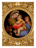 The Madonna of the Chair Reproduction procédé giclée par Raphael