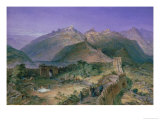 The Great Wall of China, 1886 Giclee Print by William Simpson