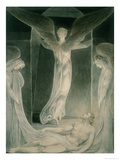 The Resurrection: the Angels Rolling Away the Stone from the Sepulchre Giclée-Druck von William Blake