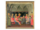 The Last Supper, Detail of Panel Three of the Silver Treasury of Santissima Annunziata, c. 1450-53 Giclee Print by Fra Angelico