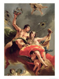 Zephyr and Flora Giclee Print by Giovanni Battista Tiepolo