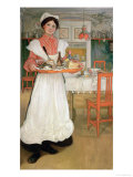Martina Carrying Breakfast on a Tray, 1904 Giclee Print by Carl Larsson