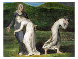 Naomi Entreating Ruth and Orpah to Return to the Land of Moab Premium Giclee Print by William Blake