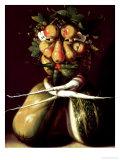 Whimsical Portrait Giclée-tryk af Giuseppe Arcimboldo