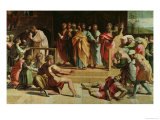 The Death of Ananias (Sketch for the Sistine Chapel) (Pre-Restoration) Reproduction proc&#233;d&#233; gicl&#233;e par Raphael 