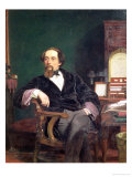 Portrait of Charles Dickens Giclee Print by William Powell Frith