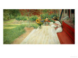 The First Lesson, 1903 Giclee Print by Carl Larsson