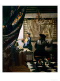 The Painter in His Studio 1665-66 Reproduction procédé giclée par Jan Vermeer
