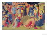 Adoration of the Magi, Predella Panel from the Linaiuoli Triptych, 1433 Giclee Print by  Fra Angelico