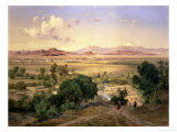 The Valley of Mexico from the Low Ridge of Tacubaya, 1894 Giclée-Druck von Jose Velasco
