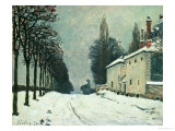 La Route De Louveciennes, Hiver, 1874 Giclee Print by Alfred Sisley
