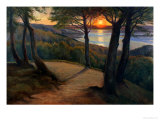 Sunset Giclee Print by Hans Agersnap