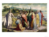 Christ's Charge to St. Peter (Sketch for the Sistine Chapel) (Pre-Restoration) Impression giclée par  Raphael