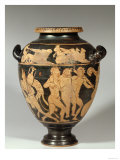 Stamnos, Dionysiac Scene, Etruscan Red-Figured Period, 4th Century BC Reproduction procédé giclée