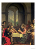 Supper at Emmaus Premium Giclee Print by Alessandro Allori