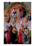 The Coronation of the Virgin circa 1480 Gicl&#233;e-Druck von Sandro Botticelli