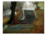 The Steps at the Frederiksberg Gardens, Copenhagen Giclee Print by Christian Clausen