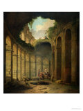 The Colosseum, Rome Reproduction procédé giclée par Hubert Robert