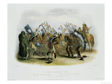 Ischoha-Kakoschochata, Dance of the Mandan Indians Giclee Print by Karl Bodmer