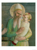 Simeon with the Christ Child, Detail from the Presentation in the Temple, 1442 Giclee Print by  Fra Angelico