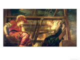 Athene and Arachne Giclee Print by Jacopo Robusti Tintoretto