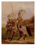 At Eglinton, Lord of the Tournament, 1840 Giclee Print by Edward Henry Corbould