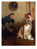 A Game of Chess Giclee Print by George Goodwin Kilburne