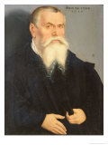Portrait of Lucas Cranach the Elder, 1550 Giclee Print by Lucas Cranach the Younger