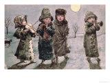 Christmas Caroling Giclee Print by Kate Greenaway