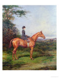 "Miss A.L.North on ""Ivanhoe"" Giclee Print by Heywood Hardy"