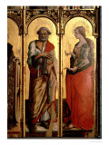 St. Peter and St. Mary Magdalene, Detail from the Santa Lucia Triptych Giclee Print by Carlo Crivelli