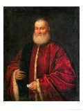 Portrait of an Old Man in Red Robes Giclee Print by Jacopo Robusti Tintoretto