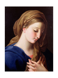 The Virgin Annunciate Giclée-tryk af Pompeo Batoni