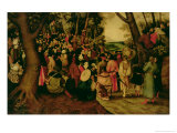 The Sermon of John the Baptist, 1604 Giclee Print by Pieter Brueghel the Younger