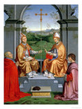 St. Thomas a Becket and St. Martin of Tours with Archbishop Giovanni Pietro Arrivabene Giclée-Druck von Timoteo Viti