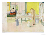 "Summer Morning, Published in ""Lasst Licht Hinin,"" (""Let in More Light"") 1908 Giclee Print by Carl Larsson"