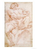 Male Nude on a Bed Giclée-tryk af Sebastiano Conca