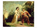 Two Figures in Turkish Costume in an Eastern Landscape Giclee Print by George Chinnery
