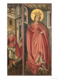 St. Margaret, Right Hand Panel of Polyptych Reproduction procédé giclée par Jost Amman