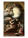 The Annunciation, 1579 Giclee Print by Alessandro Allori