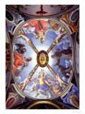 The Ceiling of the Chapel of Eleonora of Toledo Depicting St. Michael Archangel Conquering Satan Giclée-tryk af Agnolo Bronzino