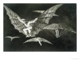 "A Way of Flying, Plate 13 of ""Proverbs,"" 1819-23, Published 1864 Reproduction procédé giclée par Francisco de Goya"